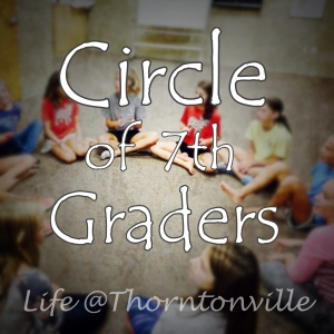 Circle of Seventh Graders