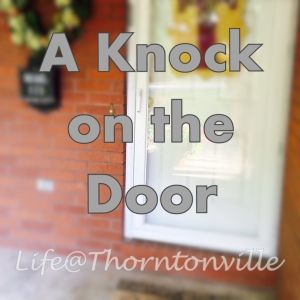 a knock